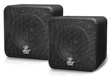 "PYLE-HOME PCB4BK PYLE HOME 4"" 200-Watt Mini-Cube Bookshelf Speakers (Black)"