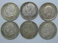 1892 1900 1904 -2  1910 1926 ALFONSO XIII 50 CENT CENTIMOS 6 COINS SPANISH SPAIN
