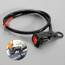 Motorcycle Handlebar Accident Hazard Light ON/OFF Kill Flameout Switch Button
