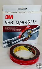 3M 4611F VHB Very High Bond General Tape 19mm X 3mtr, Metals, High Temperatures
