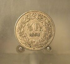Switzerland 1894 A Silver 1/2 Franc, Old World Silver Coin