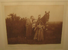 Antique EDWARD CURTIS 'With her Proudy Decked HORSE Cayuse' PHOTOgravure -INDIAN