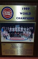 Lot of 2 Detroit Pistons Championship Plaques 1989 1990 NBA Basketball Thomas