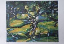 """Duaiv(French) """"Golf Swing"""" Golfing Limited Edition Hand Signed Lithograph art"""