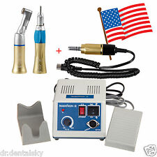 Dental Lab Marathon Micro Motor Polisher+Straight Handpiece+Contra Angle G-USA+