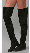 NEW $798 STUART WEITZMAN HILO OVER THE KNEE OTK SUEDE BOOT BLACK 7.5