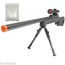415 FPS ZM51 Spring METAL Bolt Action Airsoft Sniper Rifle BiPod Scope 1000 BBS