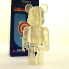 "Medicom Bearbrick 100% Be@rbrick 3"" Series 6 Jellybean Clear Thermo kidrobot art"