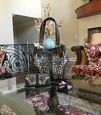 WESTERN MONTANA WEST FLORAL EMBROIDERY GEOMETRIC CONCEALED CARRY HANDBAG+WALLET