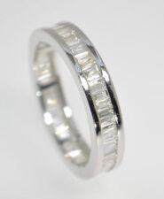 G/SI 1.00CT BAGUETTE CUT DIAMONDS FULL ETERNITY WEDDING RING IN 9K WHITE GOLD