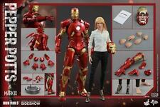 SIDESHOW HOT TOYS Marvel pepper potts iron man mk IX exclusif twin pack 1/6th