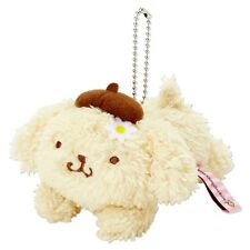 New Sanrio Japan Pom Pom Purin Plush Mascot Key Ring Strap (Flower)