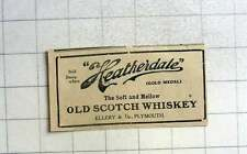 1925 Heatherdale Soft And Mellow Old Scotch Whiskey, Ellery And Co-plymouth