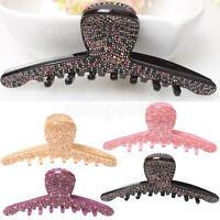 Assorted Colors Large Acrylic X Crystal Rhinestone Diamante Hair Clip Claw Jaw