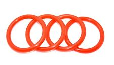 RED BILLET BUMPER TRUNK QUICK RELEASE FASTENER KIT REPLACEMENT RUBBER O RING