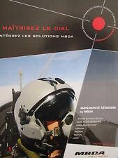 6/2011 PUB MBDA MISSILE SYSTEMS PILOT CASQUE HELMET ORIGINAL FRENCH AD