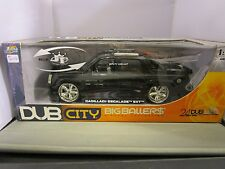 JADA 1/18 DUB CITY BIG BALLERS BLACK CADILLAC ESCALADE EXT USED **READ*