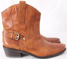 Franco Sarto Waco Short Pointed Toe Cowboy Western Ankle Boots Women's US 6M