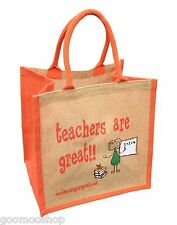 """""""Teachers are Great"""" Jute Shopper from These Bags Are Great - Gift For Teacher"""