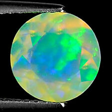 1.67 Ct Natural Ethiopian Faceted Opal Gemstone Multi Color Round Cut