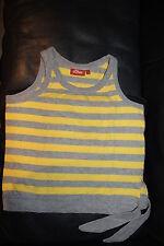 *s.Oliver* Mädchen Top Gr.176 gelb/grau gestreift, T-Shirt Trägertop Trägershirt