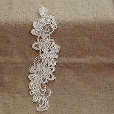 5 Venise Flower Lace Applique Corded Edge Bridal Dress Motif Ivory