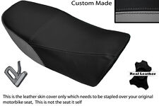 BLACK & GREY CUSTOM FITS YAMAHA RD 350 LC YPVS 80-83 LEATHER DUAL SEAT COVER