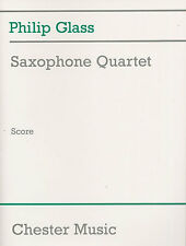 Philip Glass Saxophone Quartet Score Learn Play Sax Classical Sheet Music Book