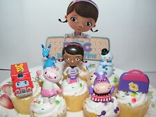 Disney Doc McStuffins  Cake Toppers Set 8 Fun Figures with Lambie, Chilly Etc