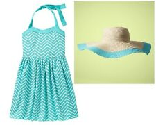gap kids S Small 6 7 Chevron Printed Halter Dress and Floppy Sun Hat