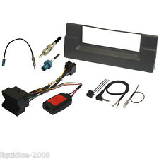 FK-115-Q BMW E39 5 SERIES E39 1997 to 2003 BLACK SINGLE DIN FASCIA QUADLOCK KIT