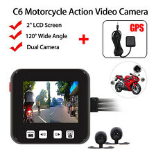C6 Motorcycle Bike Waterproof Action Mini 720p HD Video Camera Camcorder+GPS Set