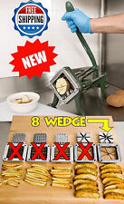 NEW! Heavy Duty 8 Wedge Blade French Fry Potato Professional Grade Cutter Slicer