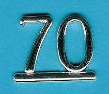 SILVER 70 NUMBERS/ NUMERALS (Pack of 6) CAKE DECORATION/ CARDS
