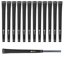 Set of 13 Karma Black Velvet Pride MIDSIZE VELOUR Golf Grips 0.600 Round +1/32