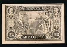 South America Brazil National Exhibition 1908 50r illus stationery USED PPC