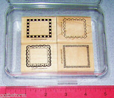 Stampin Up Borders Mini Stamp Set Postage Style Designs Stitched Lace Checkered