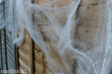 XL 85g HALLOWEEN SPIDER WEB WEBBING 8 SPIDERS COBWEB COB WEBS SCENE DECORATION