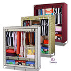 "64"" Portable Closet Storage Organizer Wardrobe Clothes Rack With Shelves 3Colors"