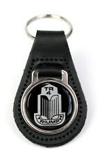 Triumph TR4 Grille Logo Quality Black Leather Keyring
