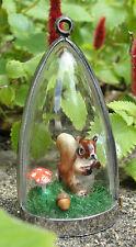 Inquisitive squirrels! diorama necklace squirrel acorn toadstool mushroom