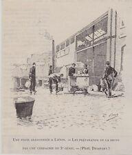 1891  -- UNE FOSSE ABANDONNEE A LIEVIN   PREPARATIFS DE LA SOUPE 3e GENIE  3K115