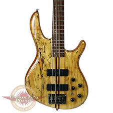 Used Cort A4 Custom SP Spalted Maple Electric Bass Guitar 4-String w/ Hard Case