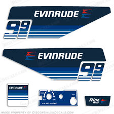Evinrude 1979 9.9hp Outboard Decal Kit Decal Reproductions in Stock Discontinued