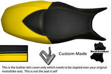 YELLOW & BLACK CUSTOM FITS BMW F 800 R F 800 S F 800 ST DUAL LEATHER SEAT COVER