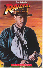 RAIDERS OF THE LOST ARK MOVIE POSTER 17x28 ULTRA RARE 1980S VIDEO STORE PROMO