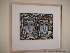 Original Gerard Negelspach Art Work Painting Man Woman Nobles - SIGNED