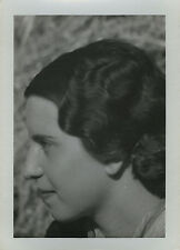 PHOTO ANCIENNE - VINTAGE SNAPSHOT - FEMME COIFFURE MODE - WOMAN FASHION HAIR 3