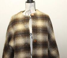 Horse Hair Jacket Women Peacoat Style Brown Faux Fur Lining Large Overcoat