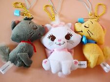Disney store Marie Aristocats Toulouse Berlioz Plush key chain badge Japan new